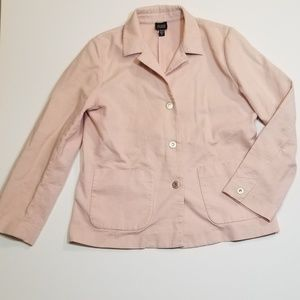 Eileen Fisher Pink Gauze Cotton Blazer